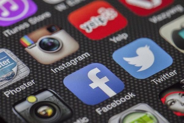 várias redes sociais