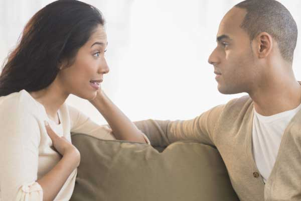 uma conversa séria com o marido